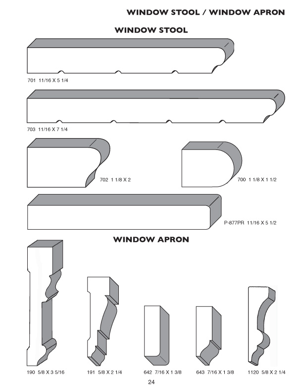 The Pioneer Millwork Moulding Profile Catalog Pioneer