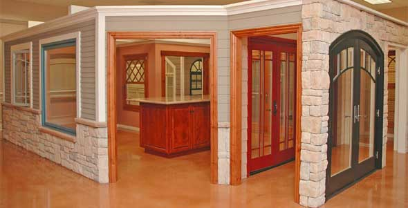 Pioneer Millwork Window Showroom featuring Marvin Windows