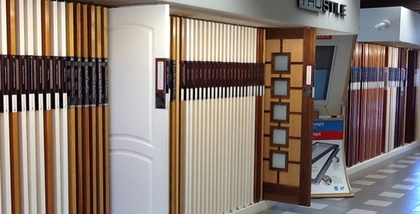 Pioneer Millwork Door Showroom featuring TruStile
