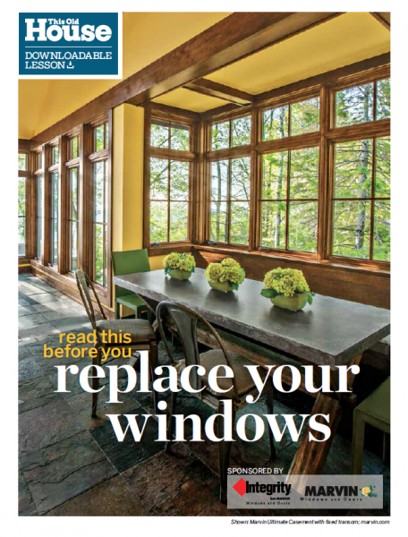 This Old House - Replace your windows guide